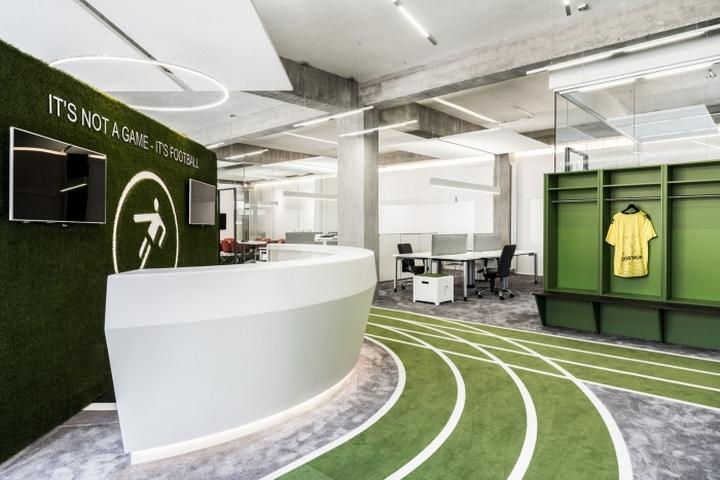 德国Onefootball总部办公室创意设计