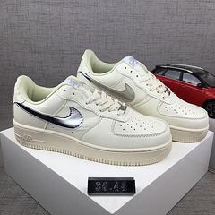 亚博集团/Nike AF1 空军一号男鞋女鞋低帮板鞋 米白银