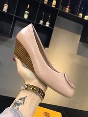ToryBurch小香鞋纯色真皮平底鞋休闲单鞋女鞋号码3540