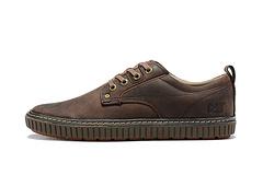 主推款CAT卡特专柜同款10601头层疯马牛皮做旧低帮男士休闲鞋板鞋黑色咖色3944码