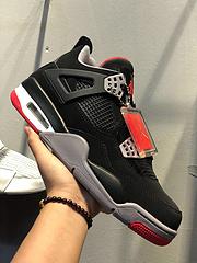 AirJordan4Retro金标get版本AJ4乔4独家原厂最高工艺AirJordan4Bred黑红原纸板楦头进口皮料完美鞋型匹配公司货正确鞋舌立