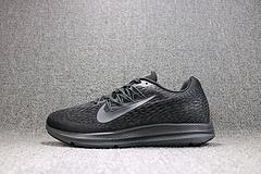 bet36是不是黑_英国bet36体育在线_bet36最新体育备用 Nike ZOOM WINFLO 5 登月网面透气跑鞋 全黑男鞋 AA7406-002  36-45