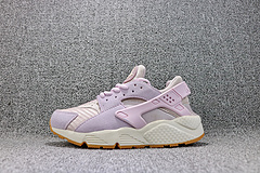 Nike Air Huarache 华莱士一代翻毛皮编织透气跑步鞋 女鞋 818597-500 36-39