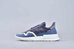 Adidas ZX500 Rm 阿迪达斯三叶草爆米花跑鞋 蓝紫男女鞋 DB3509 36-45