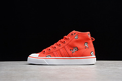 Adidas NIZZA 阿迪达斯三叶草 联名款校园帆布板鞋 红白小人女鞋 CQ2368 36-40