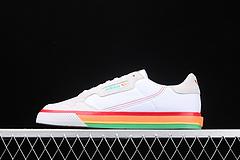 Adidas Continental Vulc Adidas Continental Vulc 阿迪达斯三叶草帆布鞋 白彩色底男女鞋 EF3527 36-44