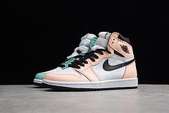 Air Jordan1 AJ乔丹1代 绿粉鸳鸯篮球鞋 男女鞋 555441-889 36-45