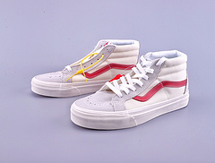 万斯 VANS/范斯SK8 MID 经典权志龙白红色高帮男女鞋情侣鞋 高帮 货号:VN0A391FOXS