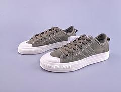 三叶草 Adidas Nizza Hi RF onzs260123.kt 米白校园潮鞋 货号BD1688