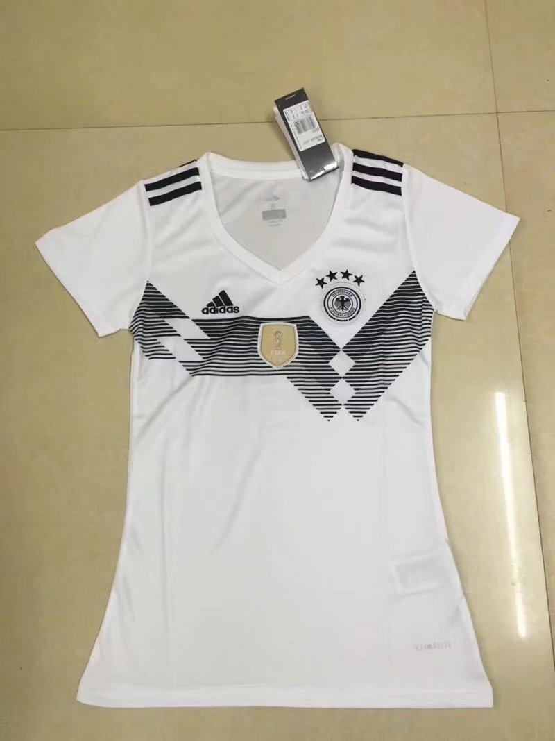 2018 World Cup Germany Home White Color Women Soccer Jersey Germany ...