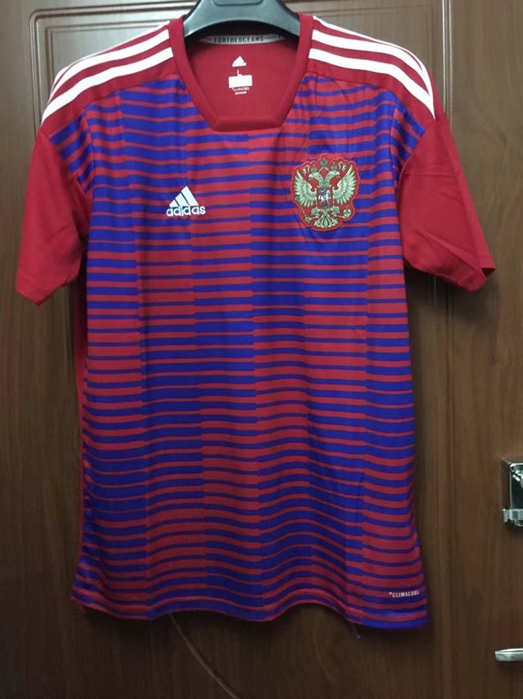 6e814d5a10e 2018 World Cup Russia Pink Color Football Training Shirt Russia ...