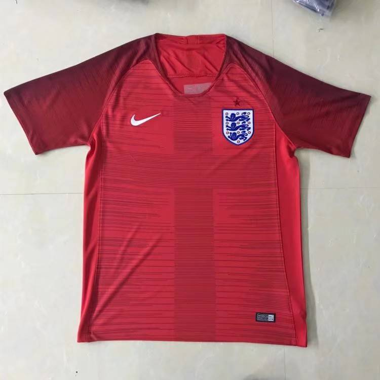 2018 World Cup England Away Red Color Soccer Jersey Top Thailand Quality England Football Shirts