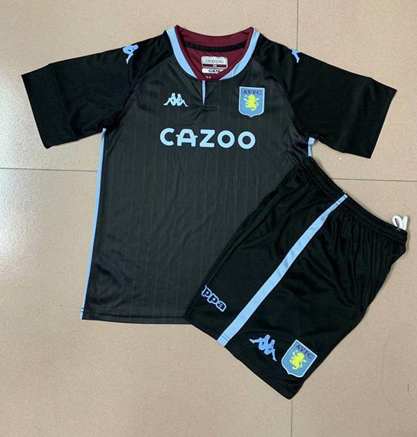 20 21 Season Aston Villa Away Black Color Youth Kids Football Uniforms Villa Kids Soccer Kit 18 19 Season Valladolid Away Black Color Youth Kids Football Uniforms 13 00 Footballinbox Top Quality Football