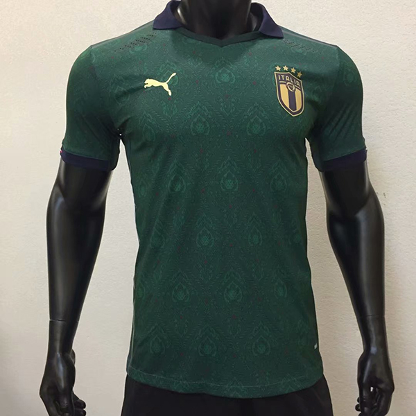 2020 Euro Cup Italy Third Green Color Soccer Jersey Top Thailand ...