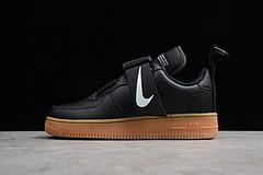 真标公司级 亚博集团 空军一号板鞋 效应 黑AO1531-002 男女鞋