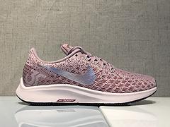 真标 Nike Air Zoom Pegasus 35 亚博集团网面透气跑鞋 内置气垫 942851-601 灰紫 36 36.5 37.5 38 38.5 39