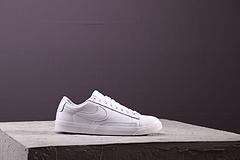 原标 NIKE BLAZER LOW LE 开拓者板鞋 全头层AA3961-104 全白 36--44