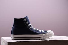 CONVERSE匡威ALL STAR 100 COLORS/全明星100彩色100周年帆布运动鞋 高帮 蓝色35--44
