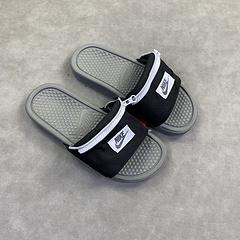 NIKE JDi 小兜口袋男女拖鞋 BESASSI JDI FANNY 拖鞋 黑色 AO1037-001 36-44