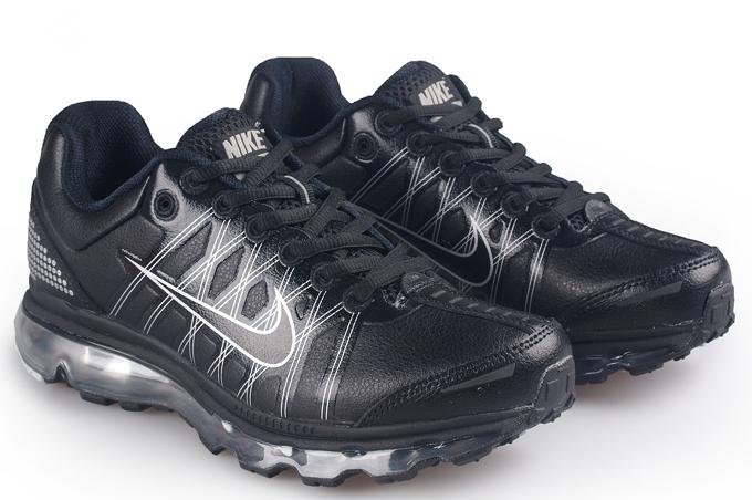 2010新款 耐克 NIKE 全掌气垫跑鞋 男款 黑银40 44