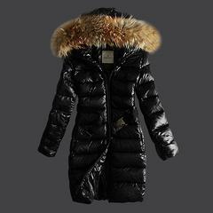 39 Moncler long down jackets black