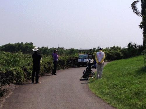 高尔夫规则-石头和高尔夫球车道
