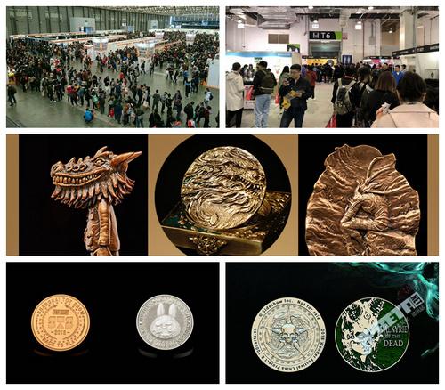 在WF2018上海、STS拿会场纪念币,金属的可塑性激发造型美