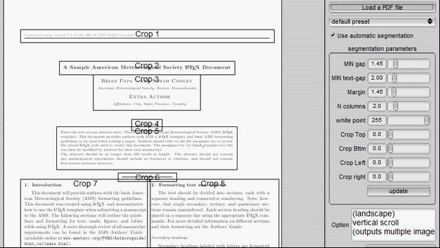 Papercrop重建利于手机和Kindle显示的PDF文档