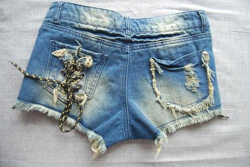 2013夏季女厂家短裤外国原单女牛美女外贸短裤外牛仔图片