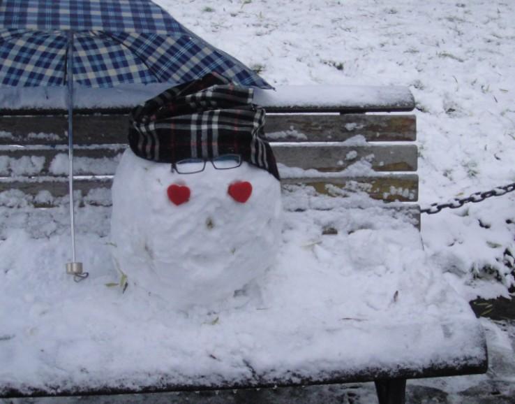 色色的雪人