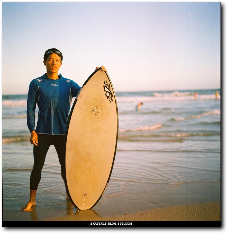 第一次带她去海滩 - 良少 冲浪 滑板 摄影 - Surfing