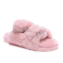 2015新款4088双排扣拖鞋  粉红现货US5-9