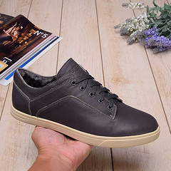 1010209皮面低筒男款板鞋 灰色现货39-44码
