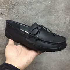 男款皮面无毛豆豆鞋1004247 黑色39-44码现货