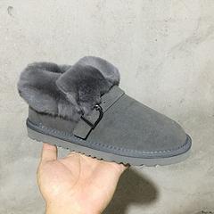 834 毛口麻将鞋 扣带款 灰色现货35-40码