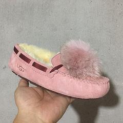 1019015 毛球豆豆鞋  粉红现货35-40码