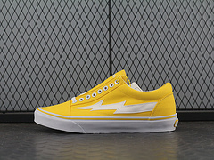 RevengexStormPopupStore雷电帆布硫化鞋系列柠檬黄白