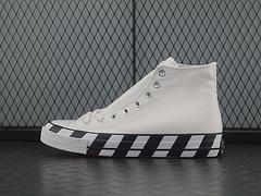 OW匡威联名OFFWHITEXConverse男女高帮限量休闲帆布鞋163892C