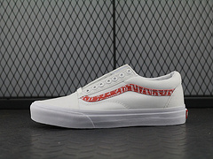 "LV x Supreme x Vans OLD SKOOL系列经典帆布硫化板鞋""sup白红""VN0A380IMPR"
