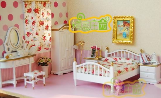 白描金玫瑰花簇卧室 梦里花开 家居 生活场景 食玩 百分淘 -奶白描金