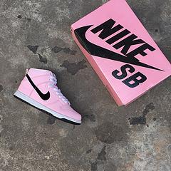 Nike Dunk High Premium SB 3M反光 粉红 高帮 高品质 原材料,内置气垫 尺码:36-40