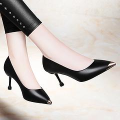 莱卡金顿6518最低销售价138尖头酒杯跟低帮鞋浅口套脚女鞋防水台女鞋子3439
