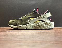 "704830-010!Nike Air Huarache Run Premium一代华莱士复古百搭慢跑鞋""苔藓绿棕粉""!"