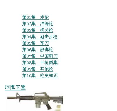 各种枪支图片集锦