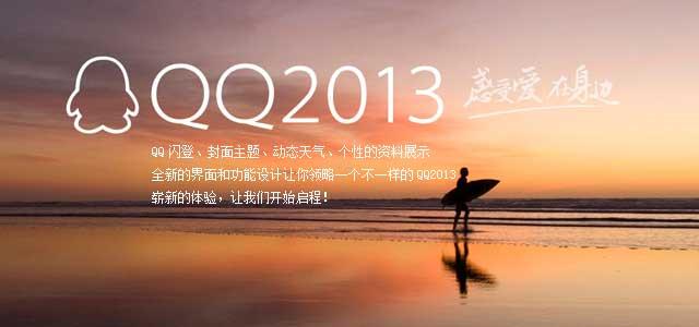 QQ2013Bate1下载;最新功能:QQ闪登,全名表情漫游,封面主题,多城市天气