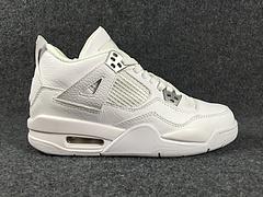 """乔4 Air Jordan 4 """"Pure Money"""" G S 白银,原装进口头层皮,超级标,大量出货,36--40"""