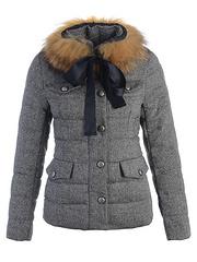 2012 新款 Moncler 羽绒服 女款 灰色 号码(0-4)
