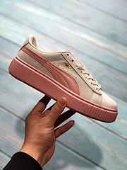 Puma彪马女鞋蕾哈娜 Suede麂皮复古 糖果色松糕鞋板鞋 size:35.5 36 36.5 37 38 38.5 39 40