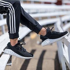 """虎扑版本,真标带半码!三叶草adidas Tubular Doom Sock Primeknit管装武士高街针织低帮慢跑鞋系列 """"黑白""""BY3563"""