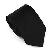玛诗杜(MSKOO)纯黑色商务正装真丝领带MTS-8032